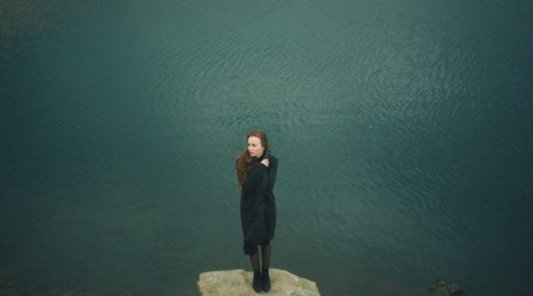 woman near a lake